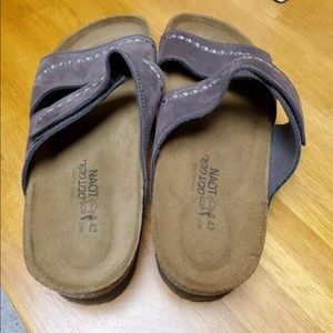 Naot sandals suede size 42 nwot